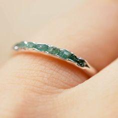 Emerald birthstone ring // Hidden Gems - Gardens of the Sun Jewelry