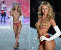 Candice Swanepoel stole the show as she stomped the Victoria's Secret catwalk wearing the coveted Fantasy Bra, a $10 million bejeweled confection made up of diamonds, rubies and yellow sapphires ...