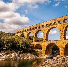 Pont du Gard by @Seb_Capture #Instagram #France #PontDuGard #Unesco #Occitanie Pont Du Gard, Brooklyn Bridge, Photos, Instagram, Travel, Image, France Travel, Stone, Pictures