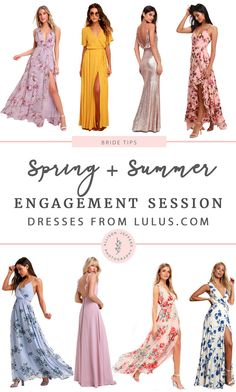 What To Wear For Your Engagement Session| Spring + Summer - Engagement Photo Dress, Engagement Dresses, Engagement Session, Engagement Photos, Dresses For Engagement Pictures, Engagements, Outfits Spring, Vestidos Color Rosa, Making A Wedding Dress