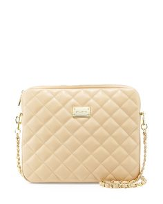 3076ce002372 St. John Collection Quilted Leather Chain Shoulder Bag