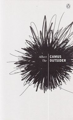The Outsider: Published in 1983 by Penguin design Albert Camus' The Outsider and its covers' stories - gallery Creative Book Covers, Best Book Covers, Beautiful Book Covers, Book Cover Art, Book Cover Design, Albert Camus, Portfolio Cover Design, Portfolio Covers, Book Design Inspiration