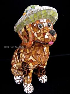 Rusty by Moe's Ache, via Flickr  I love her work!!!  Mosaic artist: Cappi PHillips