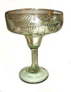 Palm Tree Margarita Glasses Set of 3