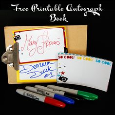 Free Printable Autograph Book
