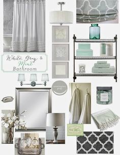 Bathroom Ideas Mint Green crisp color combo: deep green + pale gray   paint colors, colour
