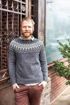 Keturah's next project. Merry Christmas, little brother. Ravelry: Grettir pattern by Jared Flood