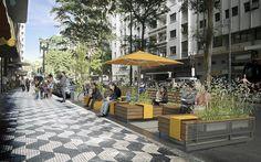 Com o objetivo de promover a ampliação da oferta de espaços públicos de convivência na cidade, a Prefeitura de São Paulo regulamentou, em abril de 2014, a implantação de parklets em suas vias públicas.