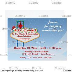 Las Vegas Sign Holiday Invitation