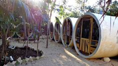 Tubo Tulum, Tulum, Mexico. Stay is a hobbit-hole style tube. Such a great idea and deceptively spacious. Great breakfast and communal areas. Just between the town and beach - easy to cycle everywhere.
