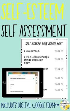 Collect data in your school counseling groups and individual sessions by using this self-esteem self-assessment. Self-assessments are a great way to determine student growth! Forms available in both hardcopy and digital version. Elementary School Counselor, School Counseling, Elementary Schools, Group Counseling, Social Emotional Learning, Social Skills, Differentiated Instruction, Self Assessment, Character Education