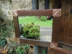 Antiques Atlas - Large Arts & Crafts Copper Mirror - Overmantle