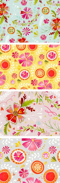 Love these prints by katie daisy.  They'd make great back drops for party tables or table clothes.