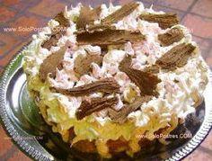 Pastel fresco con mousse de frutilla y durazno