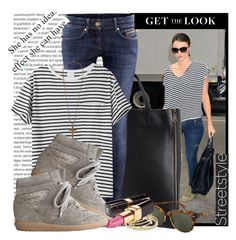 """""""Miranda Kerr - Street Style"""" by karineminzonwilson ❤ liked on Polyvore featuring Kerr®, CÉLINE, H&M, AR SRPLS, Isabel Marant, Ray-Ban, Coach, Chanel and street style"""