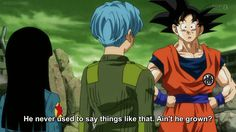 Yes kakarot, yes he has. In Cell and especially in Buu, glory be buu got me right here ❤ I for real don't cry in sad movie scenes, but I lost it when you told Trunks he was proud of him and then when he sacrificed himself for Bulma and Trunks, that was just so much character development. #PrinceVegeta ( Hannah ) God bless