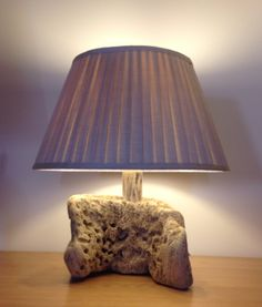 Driftwood table lamp. Art. Sculpture, Nautical, Marine, Crafts by COASTLINECRAFTS on Etsy