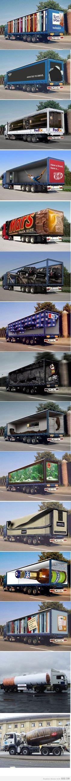 #Publicidad creativa en camiones..