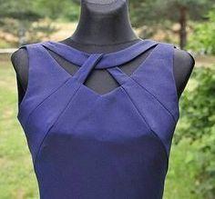 Przygotowania do szycia twisted cut out Neckline Designs, Kurti Neck Designs, Dress Neck Designs, Sleeve Designs, Blouse Designs, Blouse Patterns, Sewing Patterns, Sewing Dress, Fashion Details