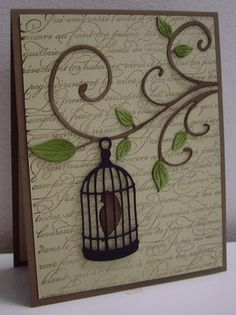 Stamping with Loll: Bird on a Branch - dies, background stamp (Aug. 2012)