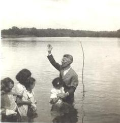 Lake Baptisms-Does anyone else remember when churches were so small the pastor only baptized once or twice a year at a local lake? It was a whole event where each church family brought their own picnic lunch; there would be the baptism, preaching, games, eating, playing, and socializing. Such fun! - MCBL