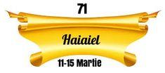 Heraldry of Life: 71.HAIAIEL - DEUS DOMINUS UNIVERSORUM