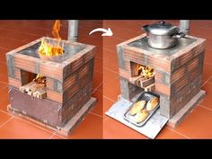 Outdoor Barbeque, How To Make Fire, Concrete Kitchen, Cement Crafts, Rocket Stoves, Diy Fire Pit, Grill Design, Outdoor Cooking, Kitchen Hacks