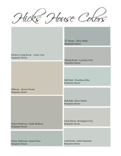 Hicks House Color Scheme