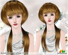 Emma's Simposium: Free Hair Pack #93 By ButterflySims - Donated/Gifted!!!
