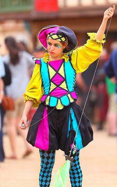 Jester Rosa Feliciana (Dee Dee) 2012 Arizona Renaissance Festival by gbrummett, via Flickr