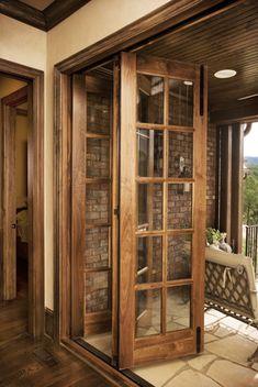 interior design, The Cliffs at Walnut Cove, Asheville, NC : Linda McDougald Design Home Room Design, Home Interior Design, House Design, Exterior Design, Main Door Design, Window Design, Wood Doors, Entry Doors, Front Doors