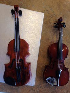 Left is the Rice Krispie violin