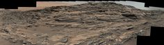 IMAGES | SEPTEMBER 11, 2015 Vista from Curiosity Shows Crossbedded Martian Sandstone The scene combines multiple images taken with both cameras of the Mast Camera (Mastcam) on Curiosity on Aug. 27, 2015, during the 1,087th Martian day, or sol of the rover's work on Mars. It spans from east, at left, to south-southwest. Figure 1 includes a scale bar of 200 centimeters (about 6.6 feet).