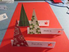 Porte noms pour Noël,  décoration de table