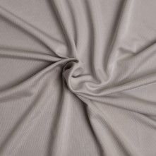 Pale Gray Solid Silk Jersey