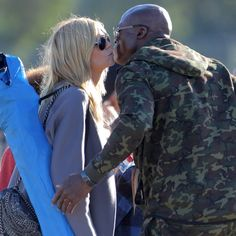 Heidi Klum and Seal Share a Kiss at Their Son's Football Game