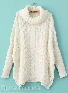Top Quality Korean Style Loose Turtle Neck Plus Size Sweater