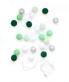 "Creme de Menthe Lights - Bright Lab Lights – 24"" Balls: 5' with 5' cord $39.95 US"