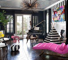 Peek Inside Kourtney Kardashian's Home - The Piano Room from #InStyle