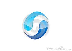 Circle water logo,wind sphere abstract,letter S company corporation,season specific and logotype - http://www.dreamstime.com/stock-photography-image46354790#res7049373