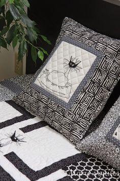 Marie's quilts: Black Cat / Black cat