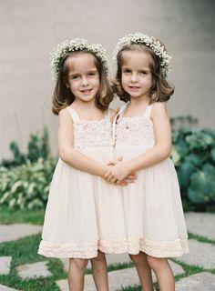 #Baby's Breath #FlowerGirls | Brett Heidebrecht Photography | See the wedding on SMP ~ http://www.StyleMePretty.com/2014/01/14/castle-cliff-estate-wedding-part-i/
