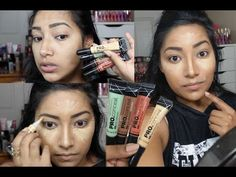 How I Contour, Conceal & Correct My Face Using LA GIRL COSMETICS PRO Correctors & Concealers - YouTube