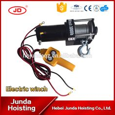 Heavy Duty wire rope Electric mini Truck winch 12/24v 3000lbs 12000lbs cable High Quanlity UTV/ATV Electric winch motor 4x4