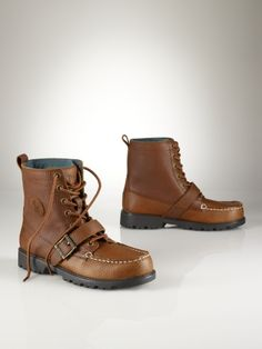 Ralph Lauren - (Junior) Ranger Leather Boot (tan tumbled leather)