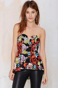 Nasty Gal Rosanna Lace Peplum Bustier | Shop Clothes at Nasty Gal!