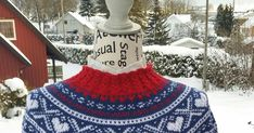 Mariusgenser med hjerter, Marius-sweater with hearts and false braiding. Sarees, Tights, Crochet Hats, Lady, Pattern, Sweaters, Fashion, Navy Tights, Knitting Hats