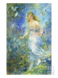 Spring Giclee Print by Pierre Auguste Renoir at Art.com