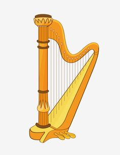 Musical Instruments, Musicals, Beautiful, Yellow, Antiques, Illustration, Creative, Irish, Decor
