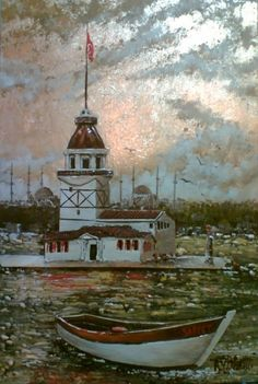 Paintings I Love, Pastel Art, Istanbul, Stained Glass, Decoupage, Sketches, Inspiration, Lighthouses, Wine Cellars